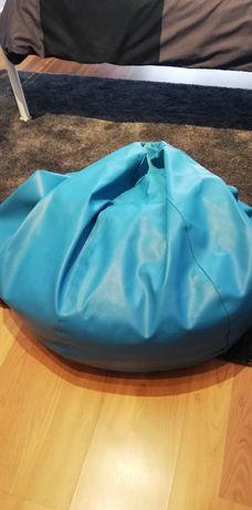 Puff napa azul impecável