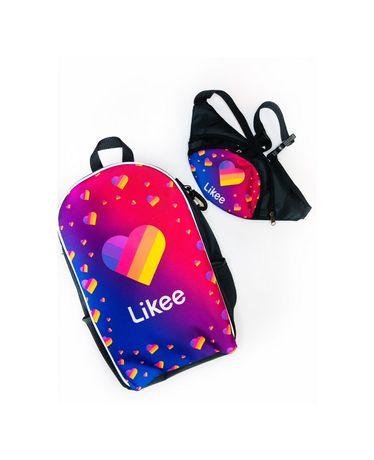 Рюкзак школьный + Бананка для девочки девочек Likee лайки роз опт