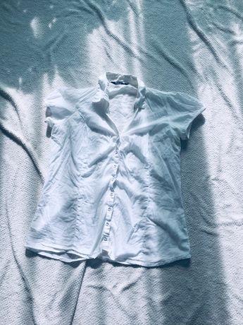Cubus biała koszula z krótkim rękawem 42 XL