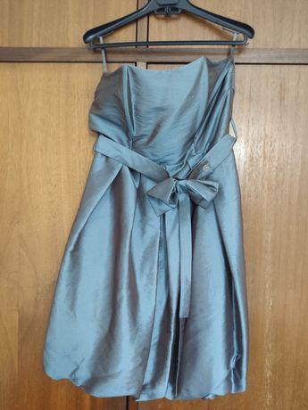 Vestido Azul de Cerimónia
