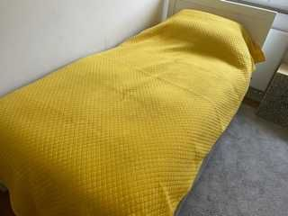 Colcha algodão de cama solteiro amarelo - 2 unidades disponiveis