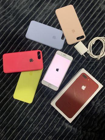 Продам Iphone 7 Plus 128 gb red + 4 чехли у подарунок
