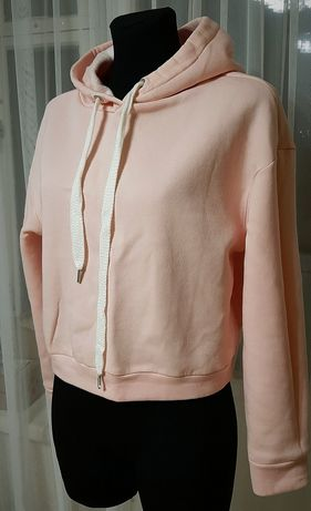 Розовый худи на флисе