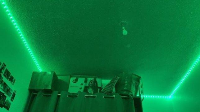 Светодиодная RGB LED лента с пульто 12 220 вольт 5 метров ргб диодная