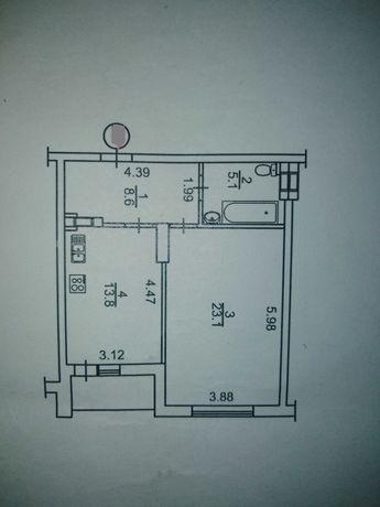 Продажа 1 комнатная квартира, ул. Максимовича, 3д