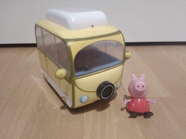 Świnka Peppa, Camper, Kamper, kemping, samochód kempingowy  mały