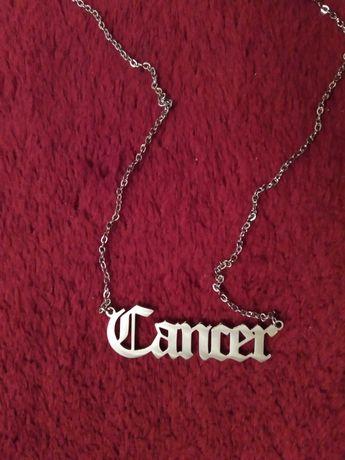 Naszyjnik napis Cancer