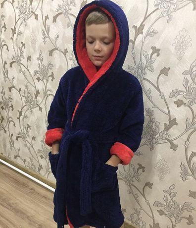 Махровый халат на мальчика (от 2 до 14 лет)
