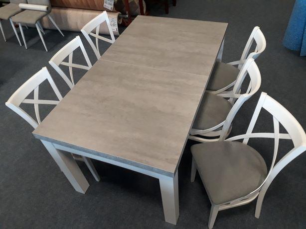 Stół rozkładany kolor beton + krzesła (opcjonalnie)