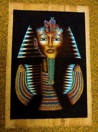 """Папирус """"Золотая маска фараона Тутанхамона""""(Египет)"""