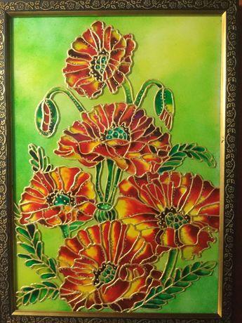 Витражная картина ручной росписи