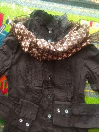 Рубашка, блуза, котон (шоколад) XS - S