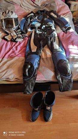 Kombinezon Motocyklowy rozm  S / 36 + buty + rękawiczki