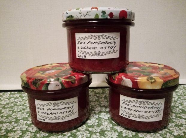 sos pomidorowy z ziołami ostry