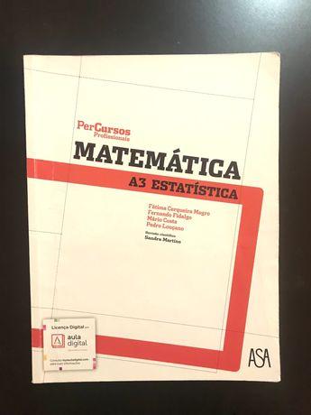 Livro de Matemática A3 estatística- Curso Profissional