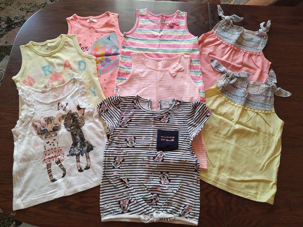 Zestaw (8szt.) bluzek / koszulek dla dziewczynki rozmiar 92