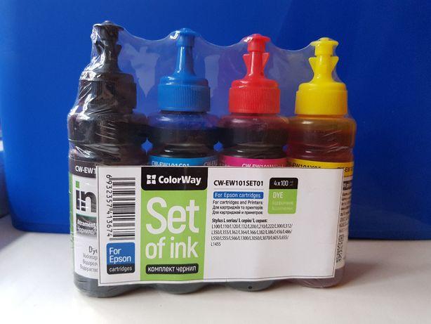 Комплект чернил ColorWay Epson L100/200 BK/С/M/Y (CW-EW101SET01)