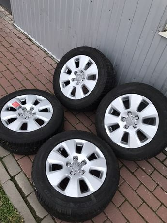 Диски 5x112 R16 AUDI A4 A6 C5 C6 VW skoda резина 225/55 R16 цена за 4ш