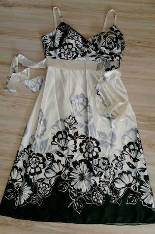 BOLERO jedwabna sukienka MIDI rozm 40/42
