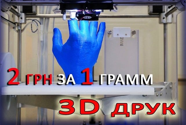 3D друк (FDM) 3Д Друк STL або OBJ файлів 3Д печать ABS PETG PLA