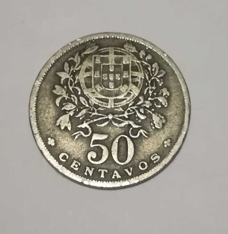 Moeda 50 centavos ano 1946