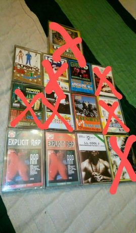 Ice T, Ice Cube, NWA, Dr.Dre, Cypress Hill, Public Enemy kasety