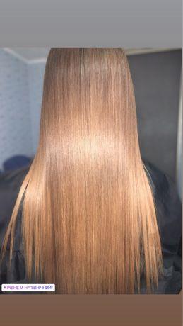 Кератинове вирівнювання та ботокс волосся!