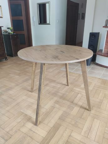 Stół drewniany okrągły nowy
