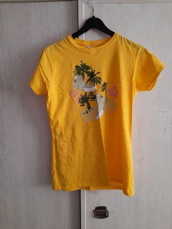 Żółta bluzka z trampkami Rozmiar XL