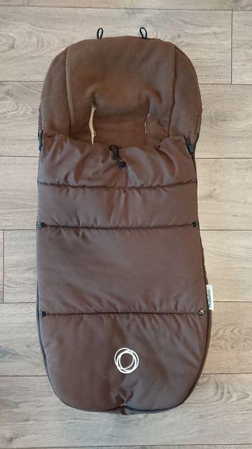 Bugaboo śpiwór zimowy śpiworek do wózka Brown brązowy