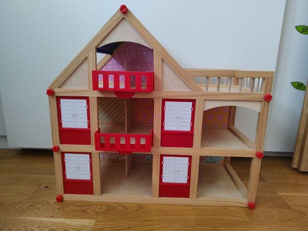 Domek dla lalek drewniany lidl