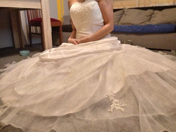 OKAZJA .Piękna suknia ślubna.Lub zamienię na coś ciekawego.