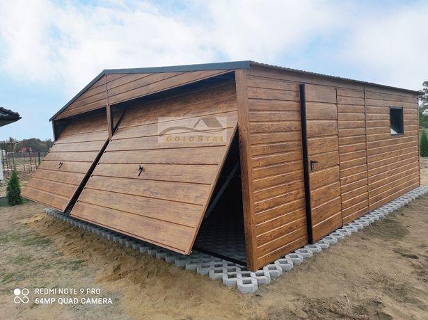 Garaż blaszany drewnopodobny 6x6, 6x5, 4x6, 7x6, 4x5, 3x5, 9x6, 7x7