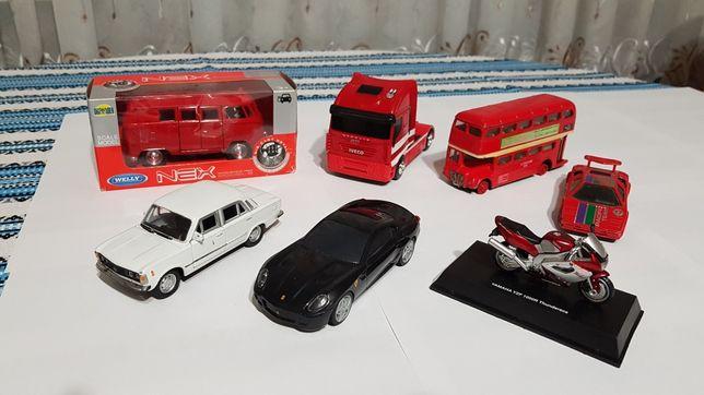 Машинки , Iveko,Volkswagen, ferrari , мотоцикл , автобус