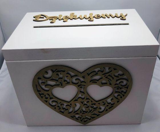 Komplet pudełka na obrączki i koperty ślub