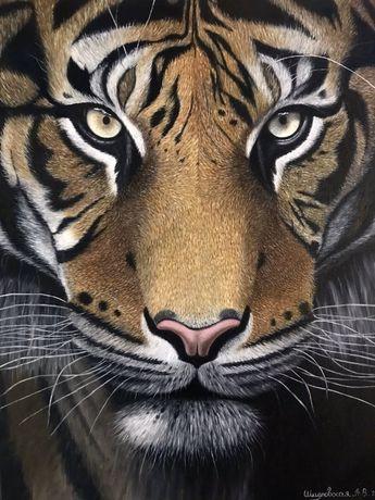 Картина маслом тигр