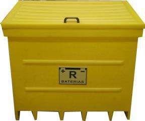Contentores Depósitos Recipientes para baterias e resíduos