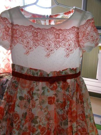 Святкова пишна сукня Choupette на кокетці з мережива