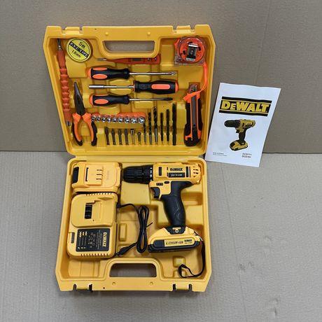 Шуруповерт DeWalt 24V 5AH с набором инструментов / 2 аккумулятора