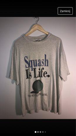 Szara koszulka vintage Squash redwood tshirt 90s sport tee