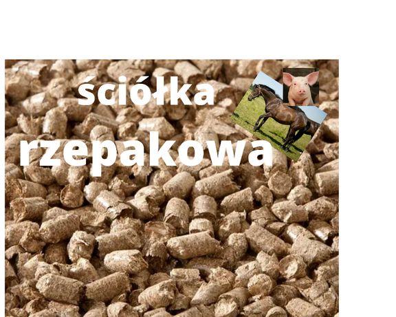 Ściółka pelet granulki z słomy rzepakowej drób konie trzoda bydło 20kg