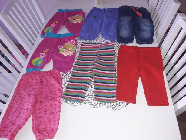 spodnie legginsy rozm. 74