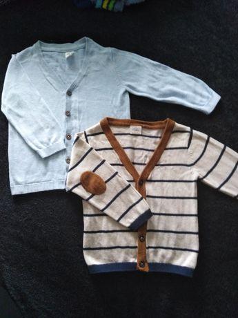 Sweterki rozpinane H&M i Lupilu