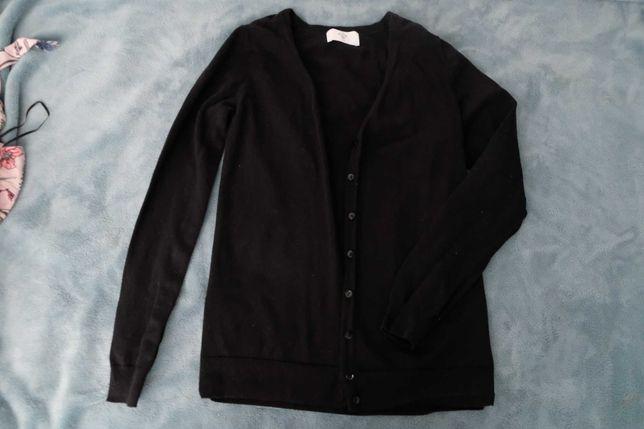 Czarny rozpinany sweter C&A XS