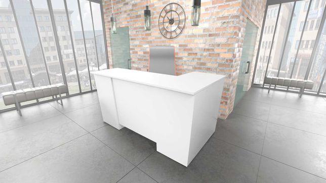 biurko białe zabudowane narożne LEWE lub PRAWE