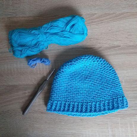 Ręcznie robiona czapeczka dla dziecka 6-12 miesięcy