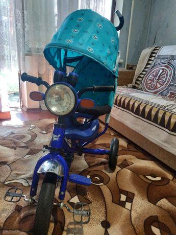 Велосипед с родительской ручкой Azimut Trike + ПОДАРОК!