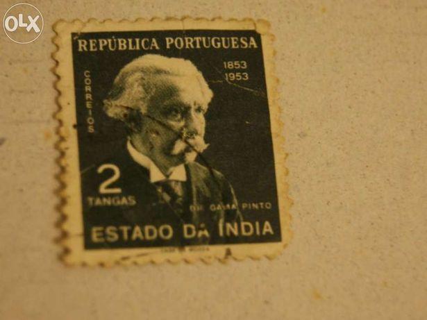 Selo India Portuguesa 2 Tangas 1953