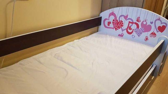 Łóżko 160X80 z szufladą,materacem i barierką