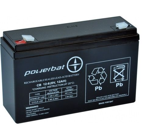 Akumulator żelowy AGM 6v12Ah Do zabawki jeździkaZASILANIE